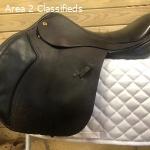 "17.5"" Black Country Ricochet Saddle Vintage Leather"