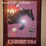 Poster, Olympics 1984 Los Angeles, Equestrian